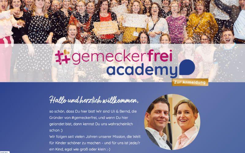 Gemeckerfrei Academy von Ulrike Bott.